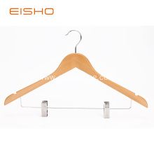 Wooden Suit Hangers With Clips EWH0051-P66